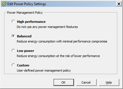 Configure ESX Power Management with PowerCLI
